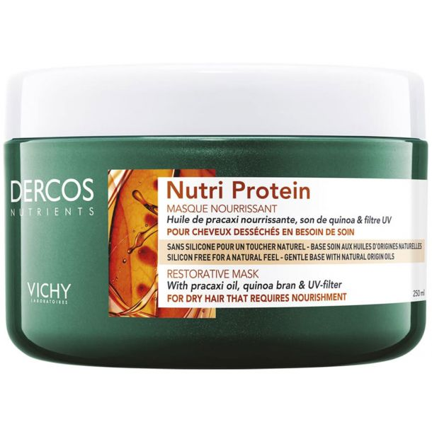 Vichy Dercos Nutri Protein Hair Mask 250ml (Damaged Hair - Split Ends - Dry Hair)