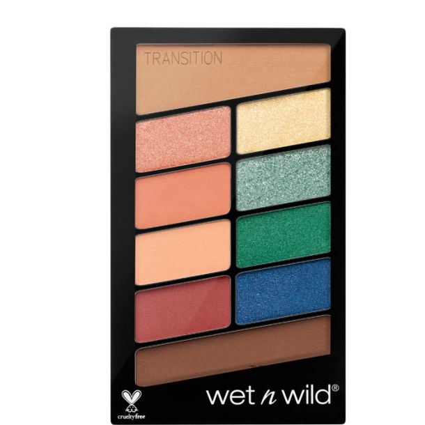 Wet N Wild Color Icon 10 Pan Eye Shadow Stop Playing Safe 763D 10gr