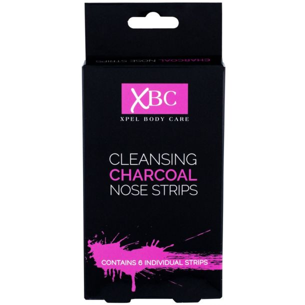 Xpel Body Care Cleansing Charcoal Nose Strips Face Mask 6pc (For All Ages)