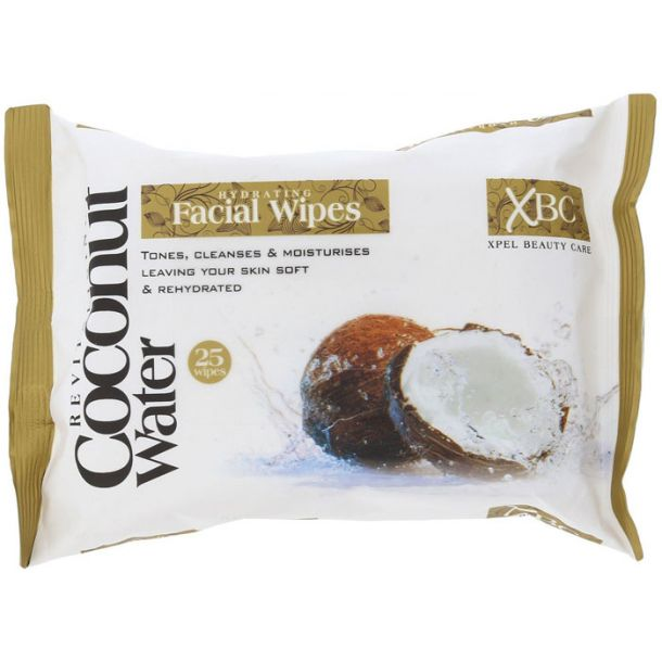 Xpel Coconut Water Hydrating Facial Wipes Cleansing Wipes 25pc