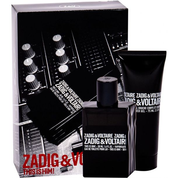 Zadig & Voltaire This is Him! Eau de Toilette 50ml Combo: Edt 50 Ml + Shower Gel 75 Ml