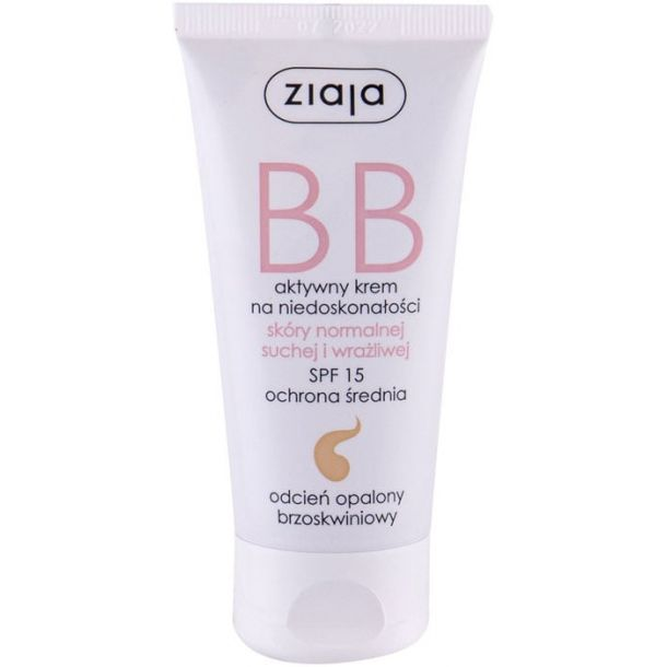 Ziaja BB Cream Normal and Dry Skin SPF15 BB Cream Dark 50ml